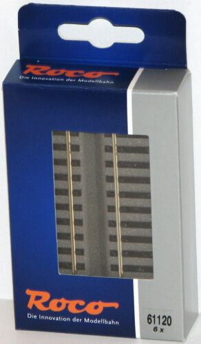 ovp 6 Stück Roco H0 61120 übergangsgleis G100 geoline - Neu