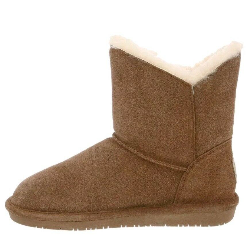 Damens Bearpaw Rosie Fashion Boot 1653W Farbe Hickory Suede II Suede Hickory 100% Authentic New 64a964