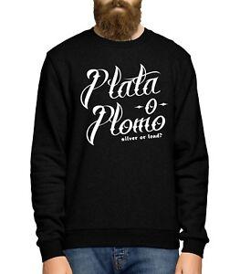 design di qualità e694d 7740f Dettagli su Plata o PLOMO Sweater Felpa Maglione Uomini Donne, COCAINA  PABLO ESCOBAR NARCO- mostra il titolo originale
