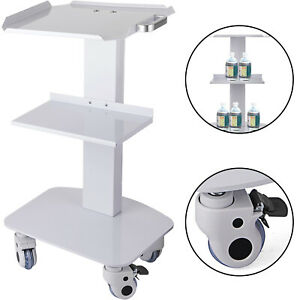 NEW Mobile Medical Steel Cart Trolley Doctor Dentist Trolly Spa Salon Equipment