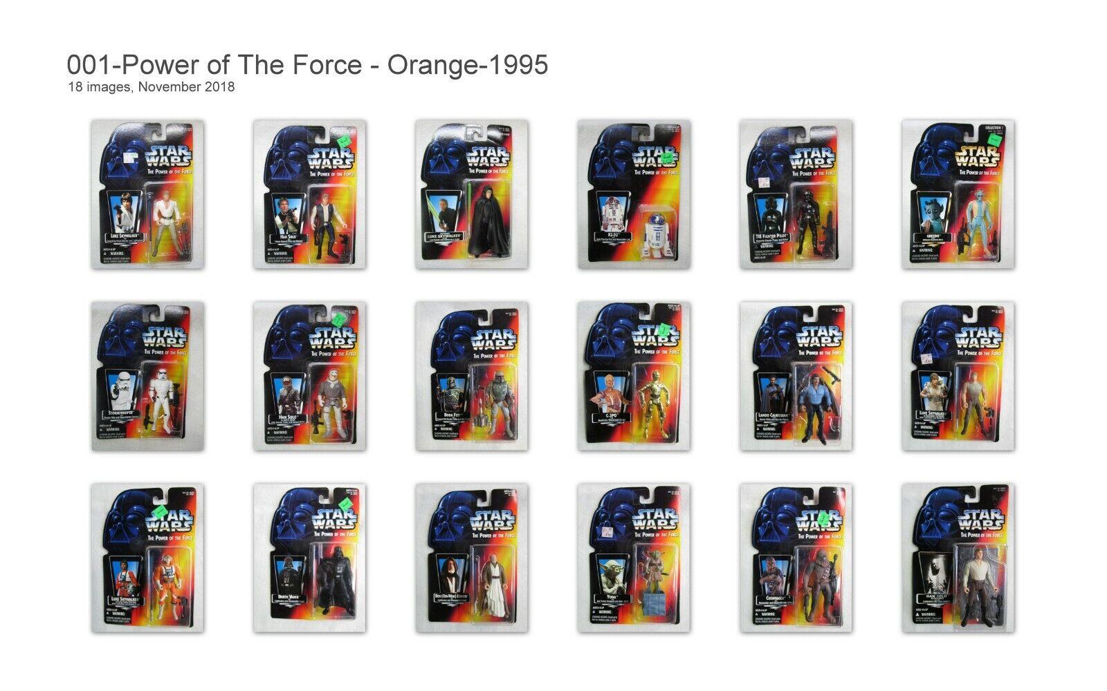 Star Wars Power Of The Force Lot 1995 Originals - 18 Figures NIB