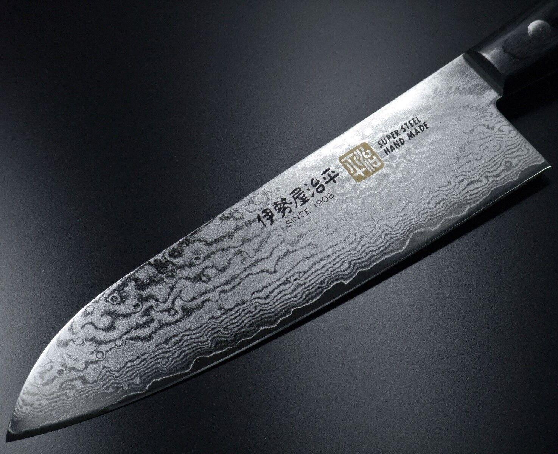 Japonais Seto ISEYA 33 COUCHES Damascus VG10 Santoku Couteau de cuisine 180 mm Japon G5