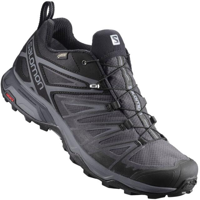Salomon Herren Trailrunning schuhe X Ultra 3 GTX Grau schwarz Größe 45