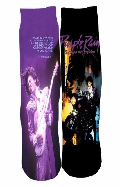 Prince Purple Rain Streetwear Footwear Socks Sports #C171