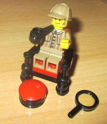Lego City Sherlock Holmes mit Stuhl Pfeife und Zeitung