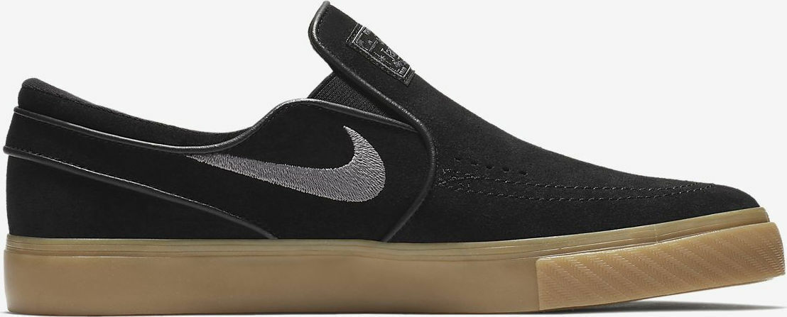 Nike SB Janoski Slip On in Black/Gunsmoke/Gum Light Brown - 5-12 NWT 833564-005