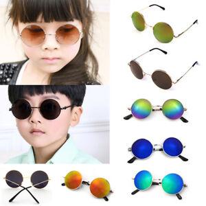 ac251db00fe Retro Vintage Kids Baby Boys Girls Children Round Glasses Eyewear ...