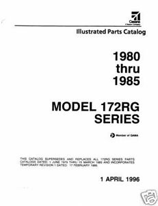 Details about 1980 -1985 Cessna Model 172RG Series Illustrated Parts  Catalog Revision 1996