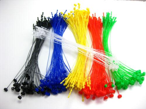 """5/"""" 1000 Pcs RED Snap Lock Pin Security Loop  Plastic Tag Fastener Hook Ties"""