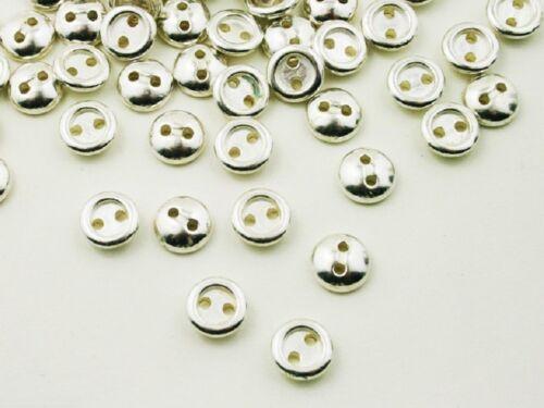 quelque boutons 2-trou 10mm massif 10 boutons métal
