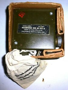 INTERPHONE-BOX-BC606-G-Signal-Corps-US-WWII-a-tres-bas-prix