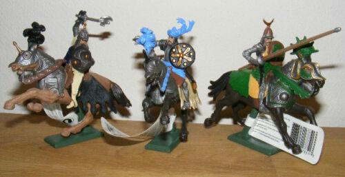 3 Britains Deetail Ritter Knights Mounted Sarazenen zu Pferd 17851