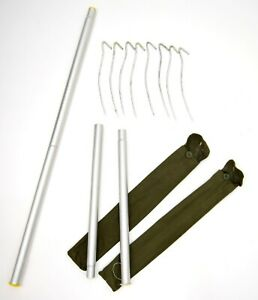 2-x-Sets-Polish-Army-Issue-Tent-Poles-Pegs-Shelter-Teepee-Pole-Camping-72cm