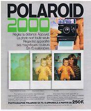 PUBLICITE ADVERTISING 104 1977 POLAROID 2000 appareil photo