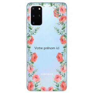 Coque Galaxy Note 10 LITE fleur coquelicot personnalisee