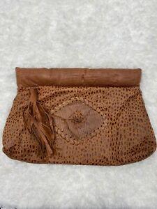 Vintage-Brown-Leather-Pouch-Purse-Strap