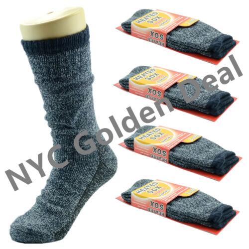 5-15 12 Pairs Mens Heavy Duty Winter Warm Work Boots Wool Feel Crew Socks Size