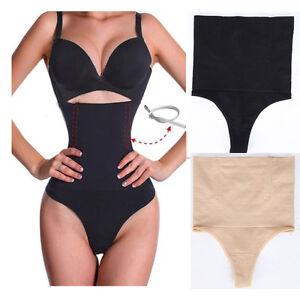 Women's High Waist Panty Body Shaper Slim Tummy Control Underwear Cincher Thong