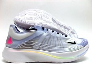 d163b9574e4e NIKE ZOOM FLY BETRUE WHITE BLACK-PALEST PURPLE SIZE MEN S 11.5 ...