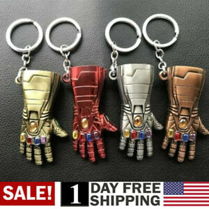 US-Iron-Man-Infinite-Gauntlet-Key-Ring-Avengers-Endgame-Tony-Stark-Keychain