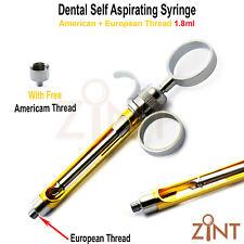 Dental Anesthetic Self Aspirating Syringe 18ml Professional Dentist Instruments