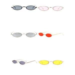 New Small Oval Sunglasses Men Women Retro Metal Frame Vintage Round