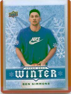 2017 Upper Deck Winter W6 Ben Simmons Rookie Card Rc