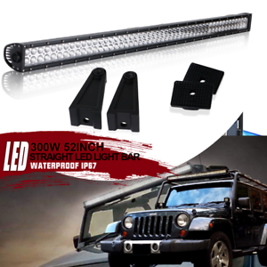 Details About Straight 52inch Led Light Bar Roof Brackets For 02 08 Dodge Ram 1500 2500 3500