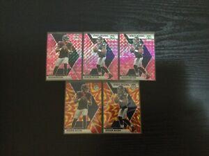 2020 Panini Mosaic DeShaun Watson 5 Card Lot Pink Camo Prizm Reactive Gold Prizm