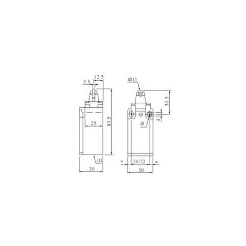 Endschalter Grenztaster Positionsschalter m.Rollendrucktaster MVGK-102 XBS 1020