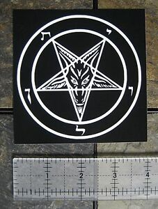 4x4-034-Pentagram-Sticker-Decal-Bumper-Occult-Baphomet-Satanic-Satan-Leviathan