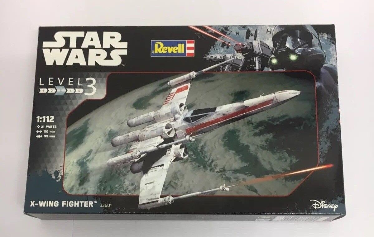 REVELL Star Wars X-Wing Fighter 1 112 Level 3 Model Set (PAINTED)