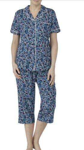NWT WOMANS Traditional Pajamas Floral Pjs Size Large L 12//14 NEW