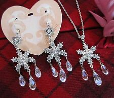 Brighton ARCTICA Snowflake Crystal Necklace & Earrings Set of Two NWT $158