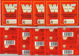 1992-MERLIN-WWF-10-Packets-60-stickers-Hulk-Hogan-Hit-Man-Undertaker-Tatanka