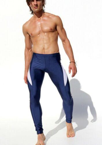 Details about  /Rufskin Legging REQUIM Shiny men leggings Lycra Laser Cut Mesh Navy 32