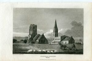 Swaffham-Churches-IN-Norfolk-Engraved-IN-1812-By-Scott-Of-A-Drawing-Of-Thomson