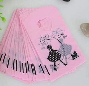 Free-50pcs-Cute-Girl-Gift-Bags-Jewelry-Packaging-Gift-Pouches-Plastic-15X9cm