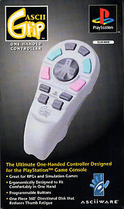 Brand-New-ASCII-Grip-One-Handed-Controller-for-Playstation-1st-Generation
