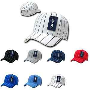 2800f64f1b7af Decky Pin Striped Pinstriped 100% Acrylic High Crown Baseball Hats ...