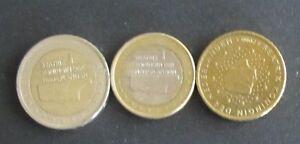 50 Cent, 1 Euro + 2 Euro-Münze Niederland Prägejahr 2000 aus Umlauf Sammlerstück