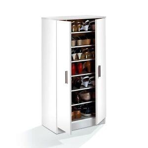 Zapatero-2-puertas-Mueble-auxiliar-Multiusos-Color-Blanco-GRAN-CAPACIDAD