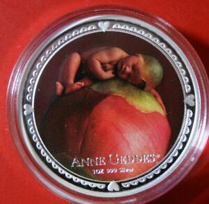 "Niue 2 dollars 2012"" Anne Geddes ""plata 1 Oz #f3817 colored pp-proof 3k rare!"