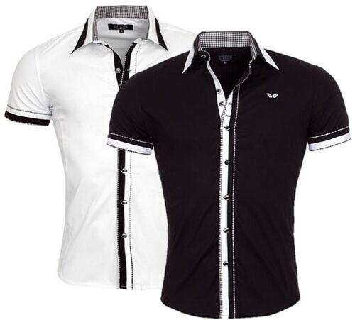 Designer Camicia maniche corte di carisma 2 colori fino a 4xl crm9023 Nuovissima!!