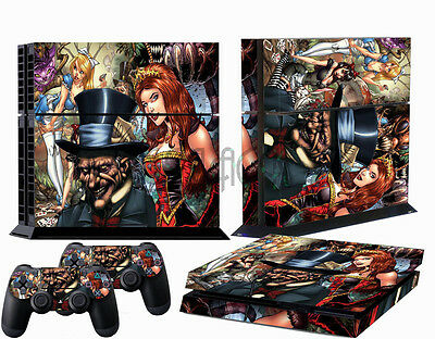 New !! Cartoon Styles For PS4 PlayStation 4 Accessory Wrap Decal Sticker Skin