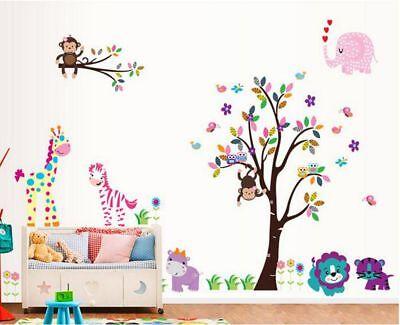 Premuroso Monkey Tree Con Gli Animali Wall Sticker Rimovibile Bambini Arredamento Camera Decalcomania Df5099-mostra Il Titolo Originale