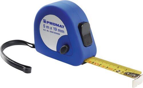 PROMAT Taschenrollbandmaß EG-Genauigkeitsklasse II  2m 3m 5m 8 Maßband Messband