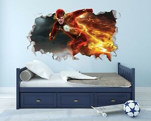 The Flash Wall Hole 3d Decal Vinyl Sticker Decor Room Smashed Fwh03