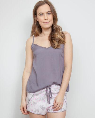 Cami Womens Cyberjammies Sienna Woven Grey Modal Cami Pyjama Top