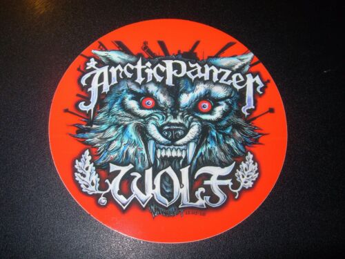THREE FLOYDS BREWING ARCTIC PANZER WOLF red STICKER decal craft beer brewery